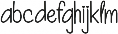 Beauty And Love Sans otf (400) Font LOWERCASE