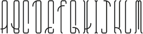 Belau Tall Deco Bold Rounded otf (700) Font UPPERCASE
