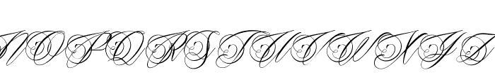 Beaked Tyrant Personal Use Font UPPERCASE