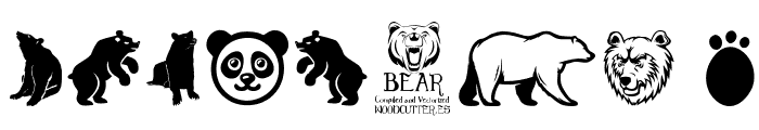 Bear Icons Font OTHER CHARS