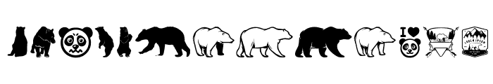 Bear Icons Font LOWERCASE