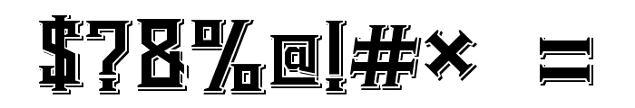 Bearded Lady Combined Font OTHER CHARS