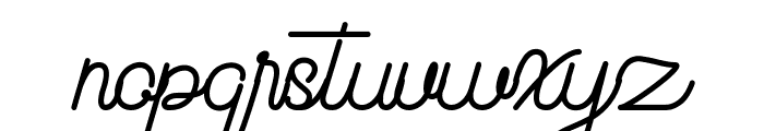 Beauty One Font LOWERCASE