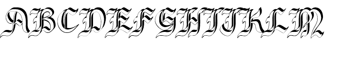 Bene Crypt Shadow Font UPPERCASE