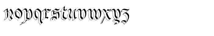 Bene Crypt Shadow Font LOWERCASE