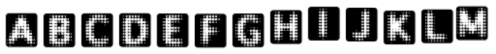 Ben Day Square Font UPPERCASE