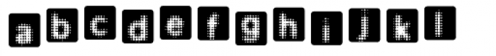Ben Day Square Font LOWERCASE