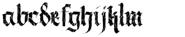 Berliner Fraktur Crashed Font LOWERCASE