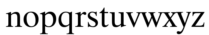 Bitstream CyberBase Font LOWERCASE