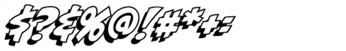 Biff Bam Boom Outline Font OTHER CHARS
