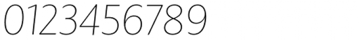 BigCity Grotesque Pro Thin Italic Font OTHER CHARS