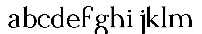 Blithedale Serif Font LOWERCASE