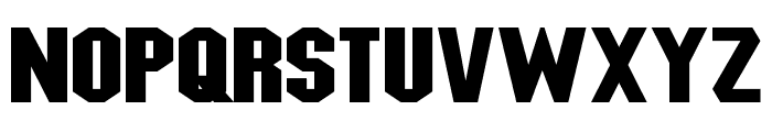 Blitzwing Expanded Font UPPERCASE