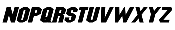 Blitzwing Extended Italic Font LOWERCASE
