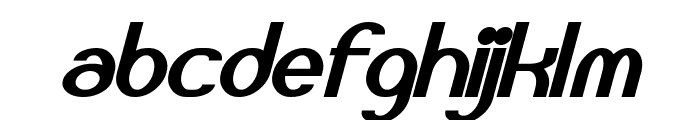 Bloomingworth Bold Italic Font LOWERCASE