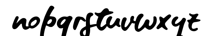 Blue Fires Sample Font LOWERCASE