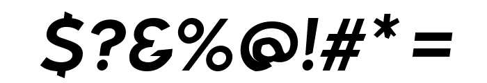 Bluebird Extended Oblique Font OTHER CHARS