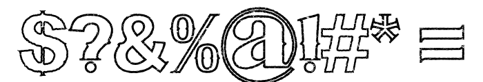 Bluegrass OUTLINE Font OTHER CHARS