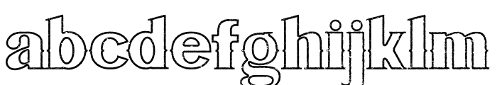 Bluegrass OUTLINE Font LOWERCASE
