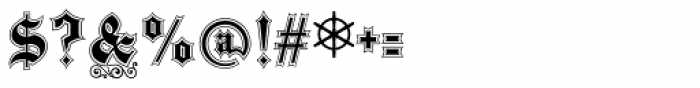 Black Pearl Font OTHER CHARS