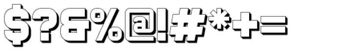 Bladi One Extruded 4F Bold Font OTHER CHARS
