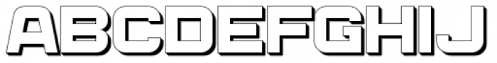 Bladi One Extruded Wide 4F Bold Font UPPERCASE