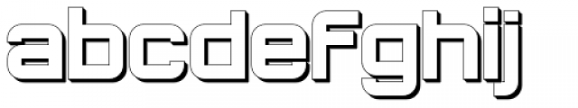 Bladi One Extruded Wide 4F Bold Font LOWERCASE
