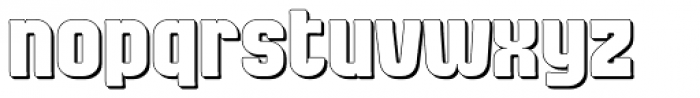 Bladi Two Cond Extruded 4F Bold Font LOWERCASE