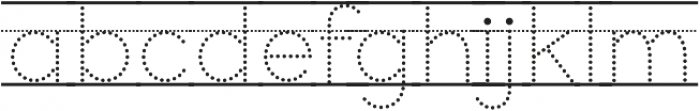 Bookbag Lined Dotted otf (400) Font LOWERCASE