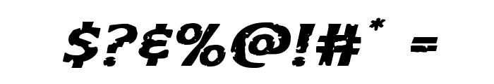 Body Swipers Expanded Italic Font OTHER CHARS