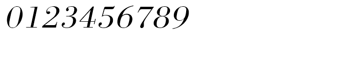 Bodoni Light Extra Wide Oblique Font OTHER CHARS