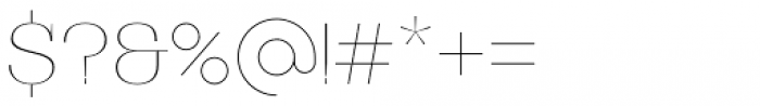 Bodrum Style 10 Hairline Font OTHER CHARS