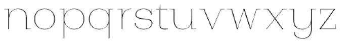 Bodrum Style 10 Hairline Font LOWERCASE