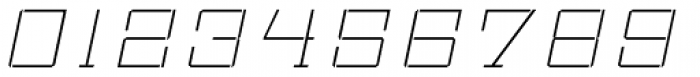 Bomburst ExtraWide Thin Oblique Font OTHER CHARS