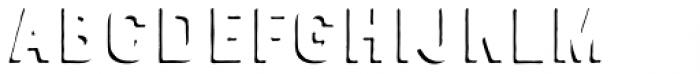 Bourton Hand Drop Shadow Solo Font LOWERCASE
