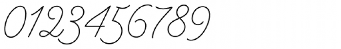 Bowline Script Thin Font OTHER CHARS