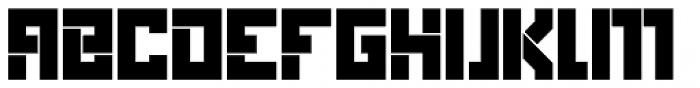 Box Solid Font UPPERCASE