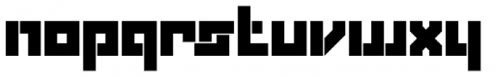 Box Solid Font LOWERCASE