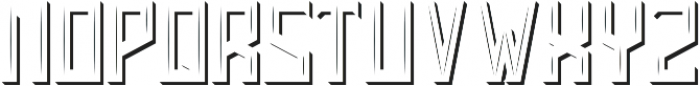 Brentford Light And Shadow FX otf (300) Font LOWERCASE