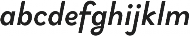 Brightwell Medium Italic otf (500) Font LOWERCASE
