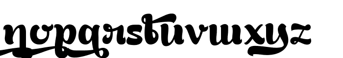 Bready Clockwise Demo Font LOWERCASE