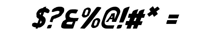Bronic Italic Font OTHER CHARS