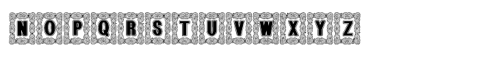 Bruce Ornament Lined Font UPPERCASE