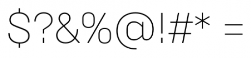 Brutal Type ExtraLight Font OTHER CHARS