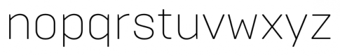 Brutal Type ExtraLight Font LOWERCASE