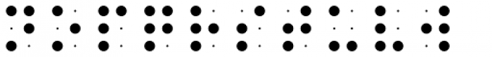 Braille EF Grid Font LOWERCASE