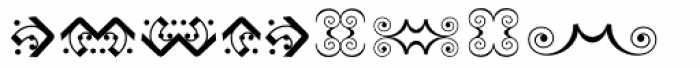 Bruce Ornaments Collection Font UPPERCASE