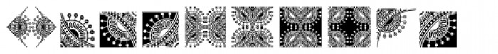 Bruce Ornaments Collection Font LOWERCASE