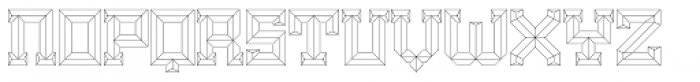 Brute Outlined Font LOWERCASE