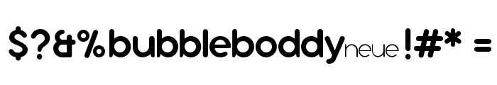 Bubbleboddy Neue Trial Regular Font OTHER CHARS